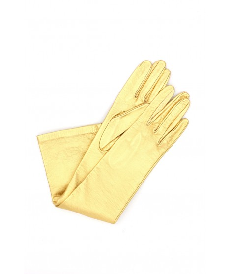 """Nappa leather gloves 10bt silk lined Gold """"Limited Edition"""""""