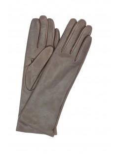 Nappa leather gloves 4bt cashmere lined Dark Brown Sermoneta