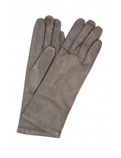 Nappa leather gloves 4bt cashmere lined Mink Sermoneta Gloves