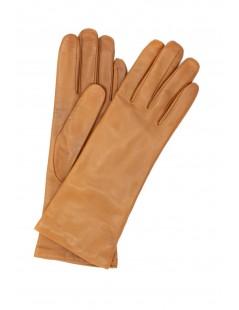 Nappa leather gloves 4bt cashmere lined Tan Sermoneta Gloves