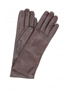 Nappa leather gloves 4bt cashmere lined Bordeaux Sermoneta