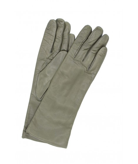 Nappa leather gloves 4bt cashmere lined Military Green