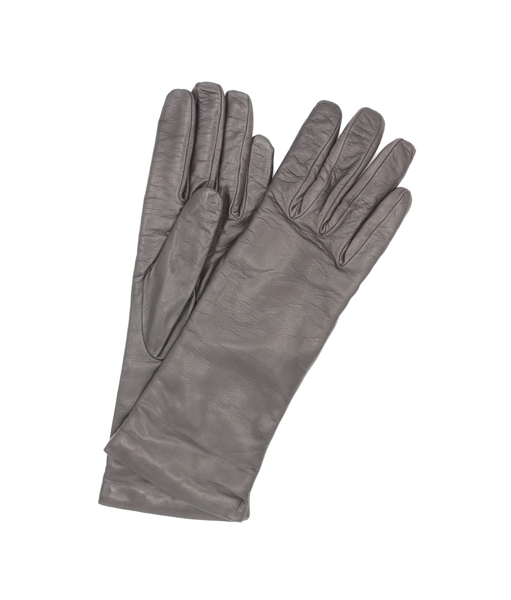 Nappa leather gloves 4bt cashmere lined Grey Sermoneta Gloves