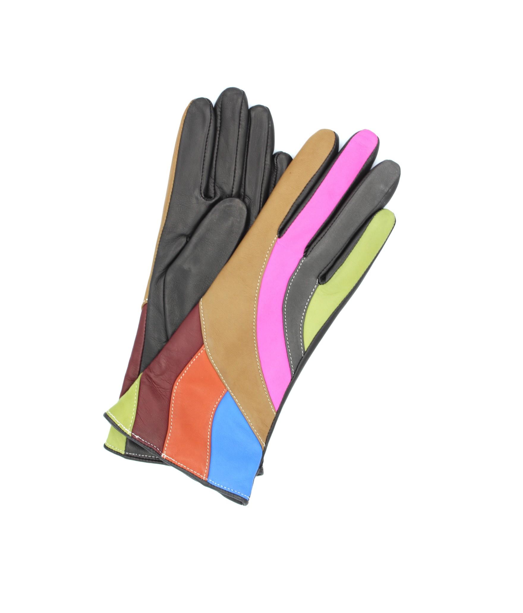 Guanto in Nappa foderato cashmere Multicolor Sermoneta Gloves
