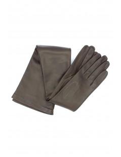 Nappa leather gloves 16bt silk lined Dark Brown Sermoneta