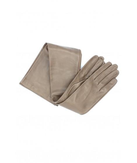 Nappa leather gloves 16bt silk lined Mud Sermoneta Gloves