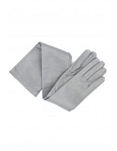 Nappa leather gloves 16bt silk lined Pearl Grey Sermoneta