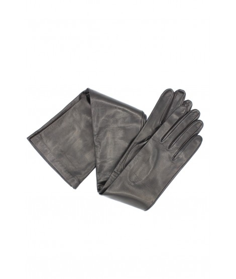 Nappa leather gloves 16bt silk lined Black Sermoneta Gloves