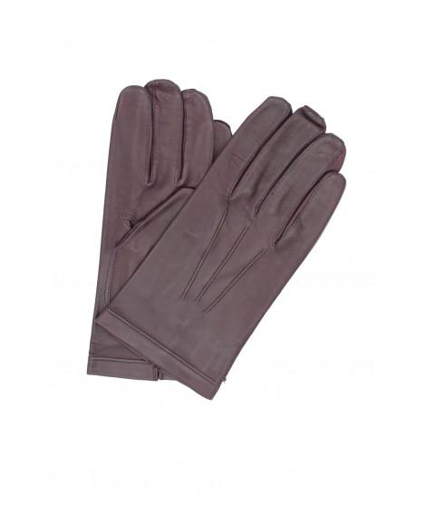 Nappa leather gloves Silk lined Bordeaux Sermoneta Gloves