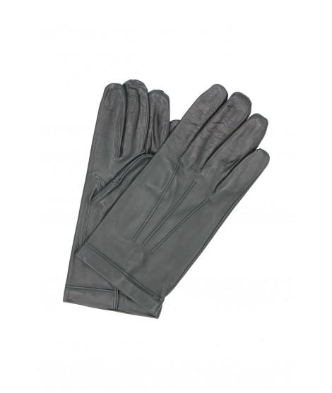 Nappa leather gloves Silk lined Dark Green Sermoneta Gloves