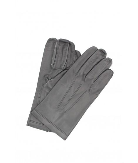 Nappa leather gloves Silk lined Grey Sermoneta Gloves Leather