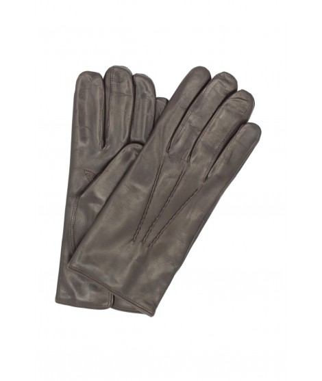 Nappa leather gloves lined cashmere Dark Brown Sermoneta Gloves