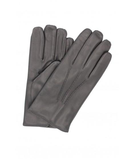 Nappa leather gloves cashmere lined Dark Grey Sermoneta Gloves