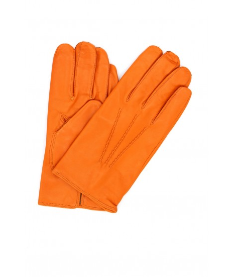 Nappa leather gloves cashmere lined Orange Sermoneta Gloves