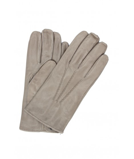 Nappa leather gloves cashmere lined Mud Sermoneta Gloves Leather
