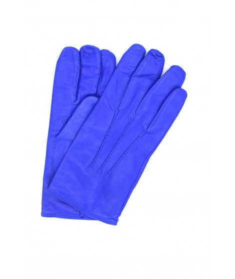 Nappa leather gloves cashmere lined Blu/Royal Sermoneta Gloves
