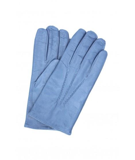 Nappa leather gloves cashmere lined Denim Sermoneta Gloves