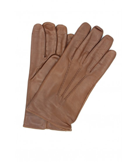 Nappa leather gloves cashmere lined Tan Sermoneta Gloves Leather