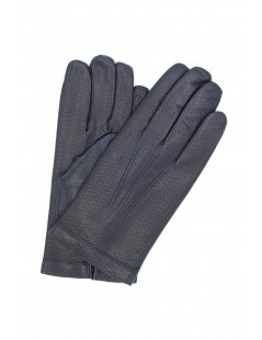 Nappa leather gloves 2bt cashmere lined Navy Sermoneta Gloves