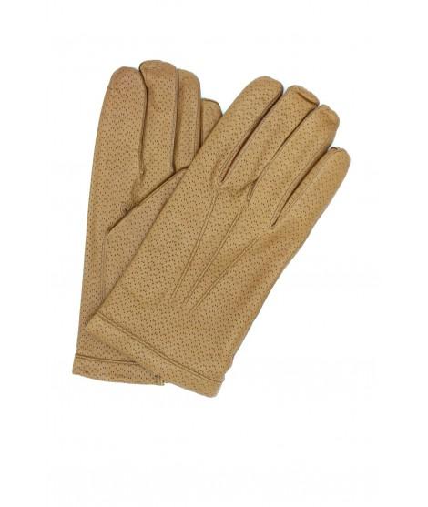Guanto in Nappa 2bt foderato cashmere Camel Sermoneta Gloves