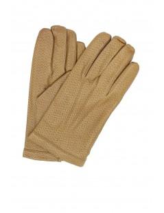 Nappa leather gloves 2bt cashmere lined Camel Sermoneta Gloves