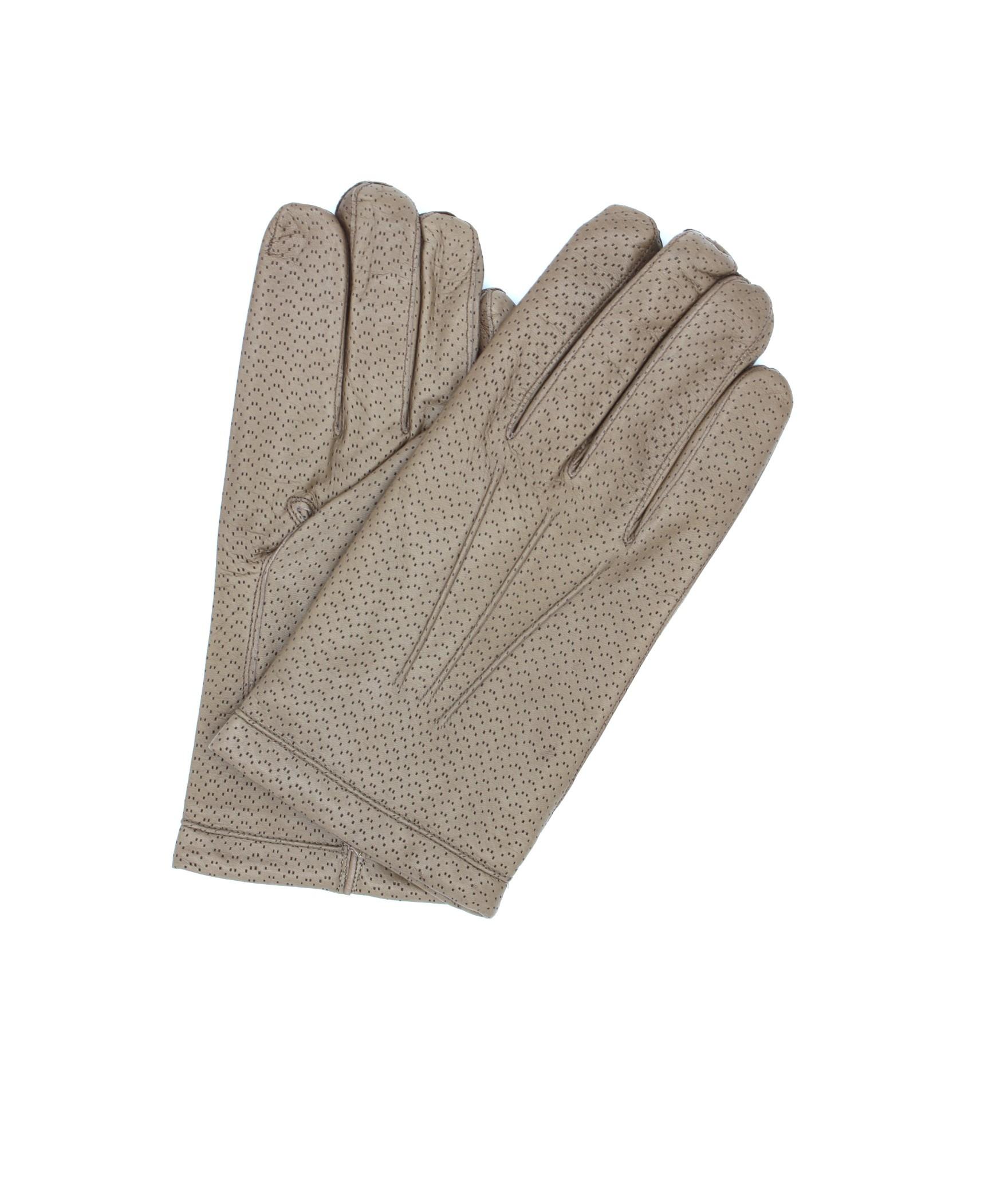 Nappa leather gloves 2bt cashmere lined Mud Sermoneta Gloves