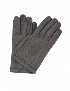Nappa leather gloves 2bt cashmere lined Dark Grey Sermoneta