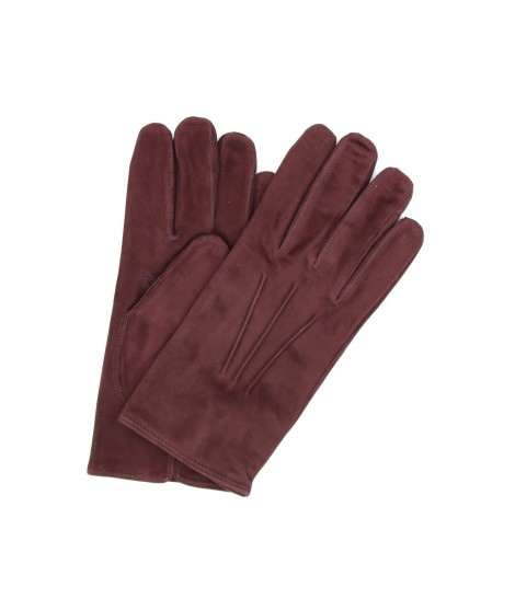 Suede Nappa leather gloves cashmere lined Bordeaux Sermoneta