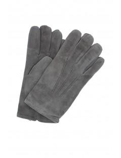 Suede Nappa leather gloves cashmere lined Dark Grey Sermoneta