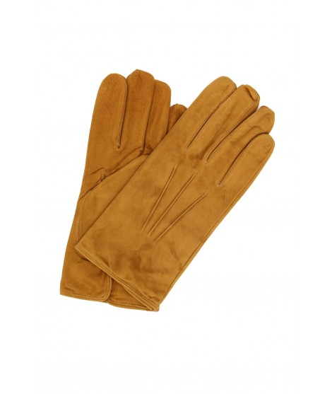 Suede Nappa leather gloves cashmere lined Tan Sermoneta Gloves
