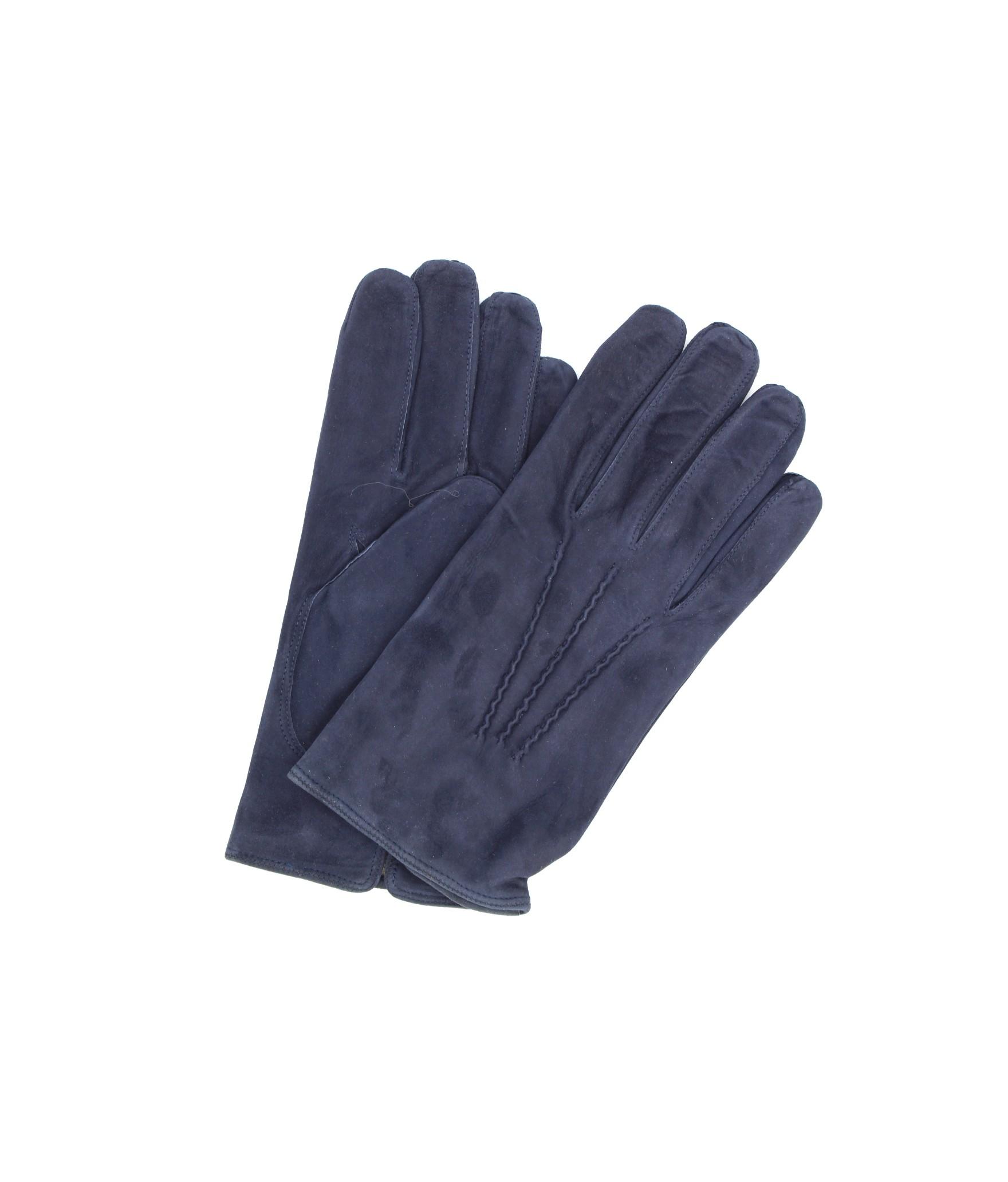 Guanto Pelle scamosciata fodera cashmere Navy Sermoneta Gloves