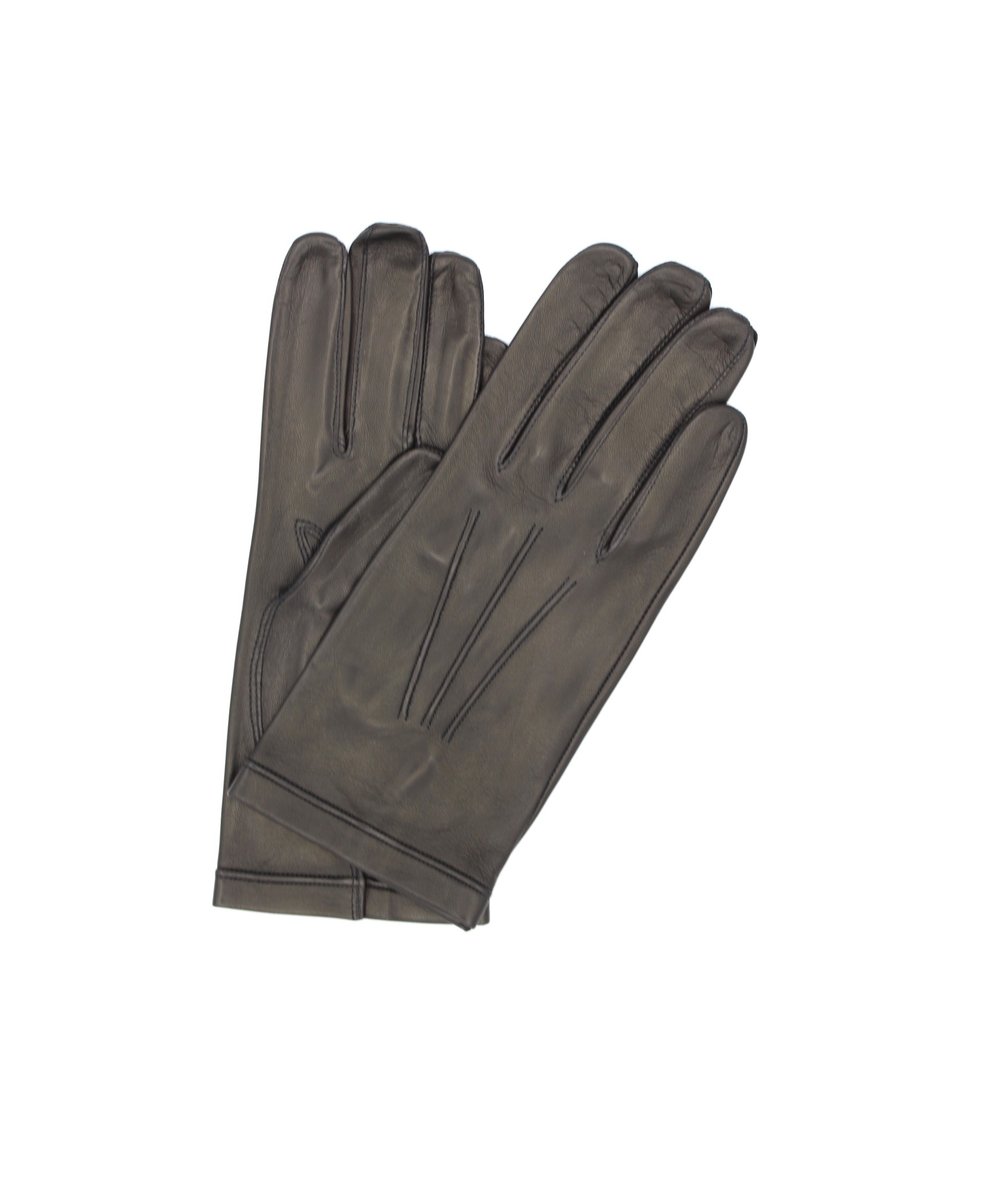Nappa leather gloves unlined Black Sermoneta Gloves Leather