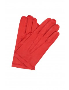 Nappa leather gloves unlined Red Sermoneta Gloves Leather