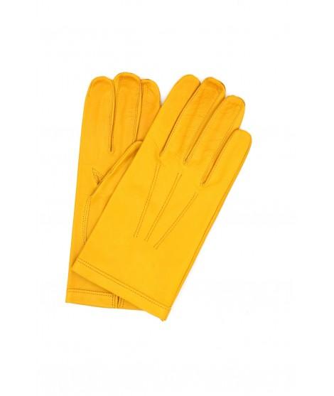 Nappa leather gloves unlined Ocra Yellow Sermoneta Gloves