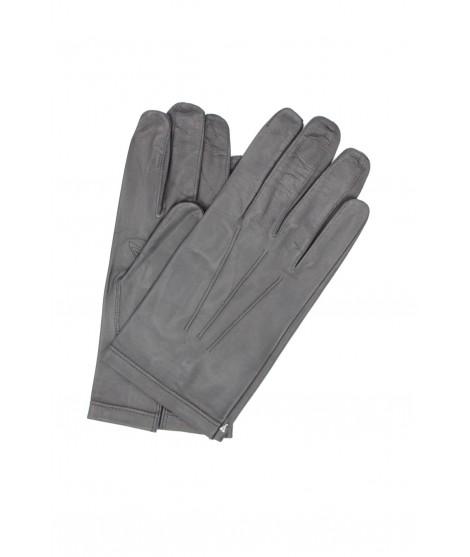 Nappa leather gloves unlined Grey Sermoneta Gloves Leather