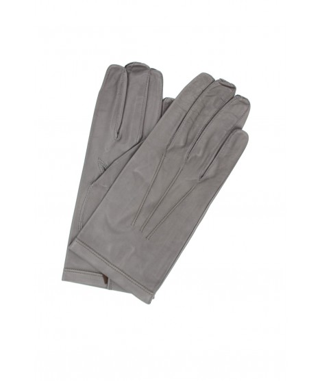 Nappa leather gloves unlined Taupe Sermoneta Gloves Leather