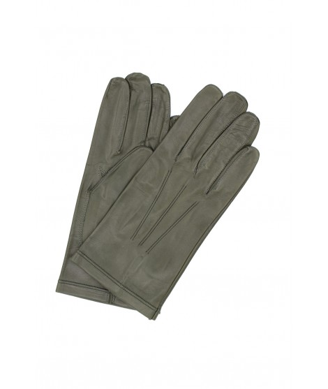 Nappa leather gloves unlined Military Green Sermoneta Gloves