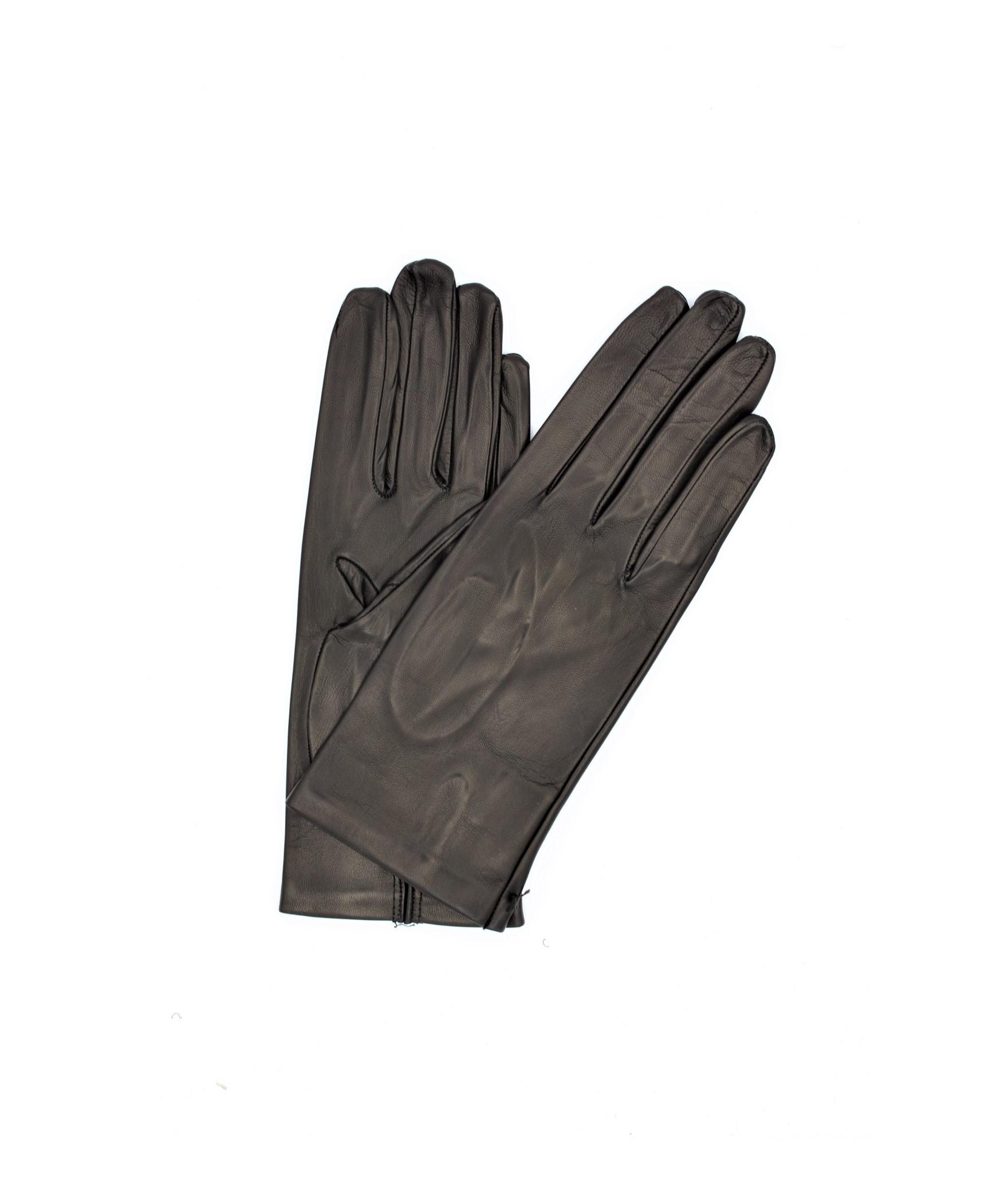 Nappa leather gloves 2bt unlined Black Sermoneta Gloves Leather