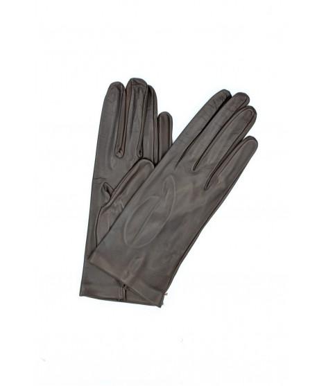 Nappa leather gloves 2bt unlined Dark Brown Sermoneta Gloves