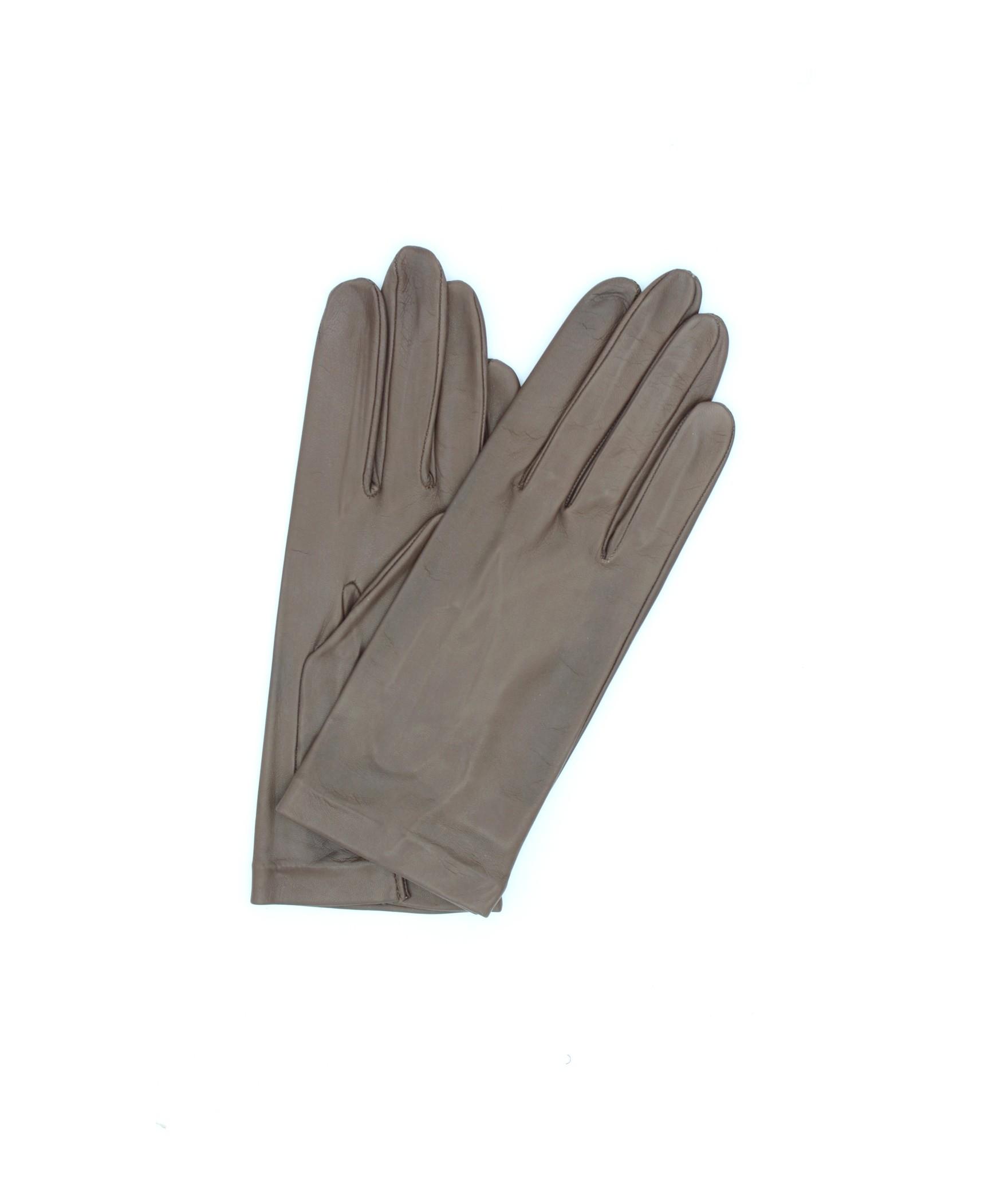 Nappa leather gloves 2bt unlined Mink Sermoneta Gloves Leather