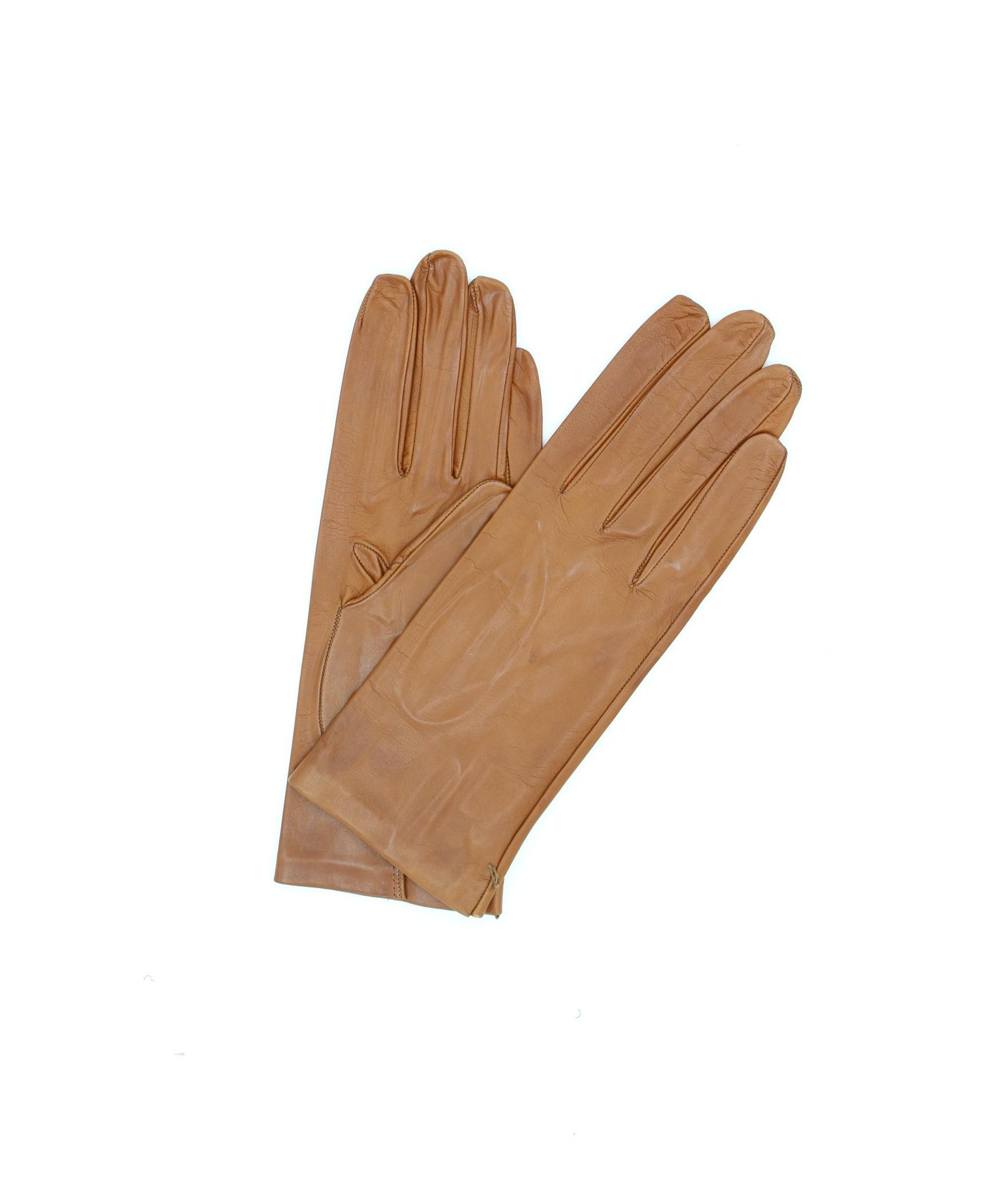Nappa leather gloves 2bt unlined Tan Sermoneta Gloves Leather