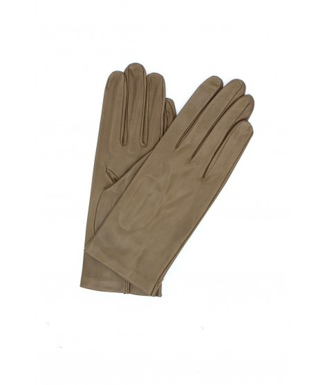 Nappa leather gloves 2bt unlined Taupe Sermoneta Gloves Leather