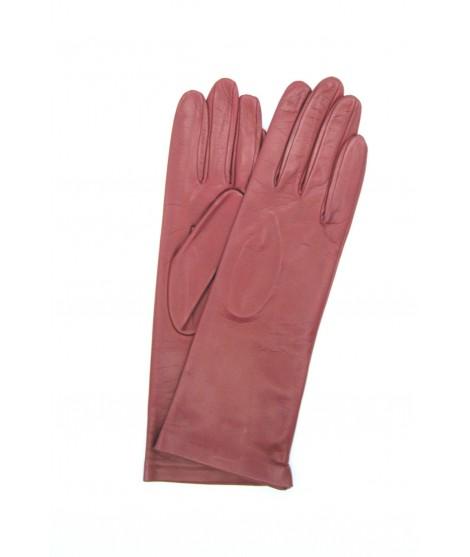 Nappa leather gloves 4bt Silk lined Dark Red Sermoneta Gloves