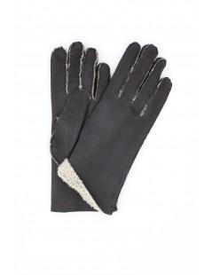 Sheepskin gloves with hand stitching Black Sermoneta Gloves