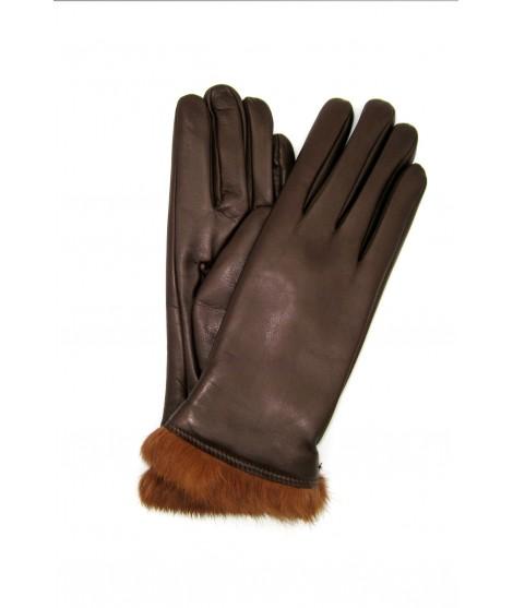 Guanto Nappa foderato lapin in tinta Mink Sermoneta Gloves