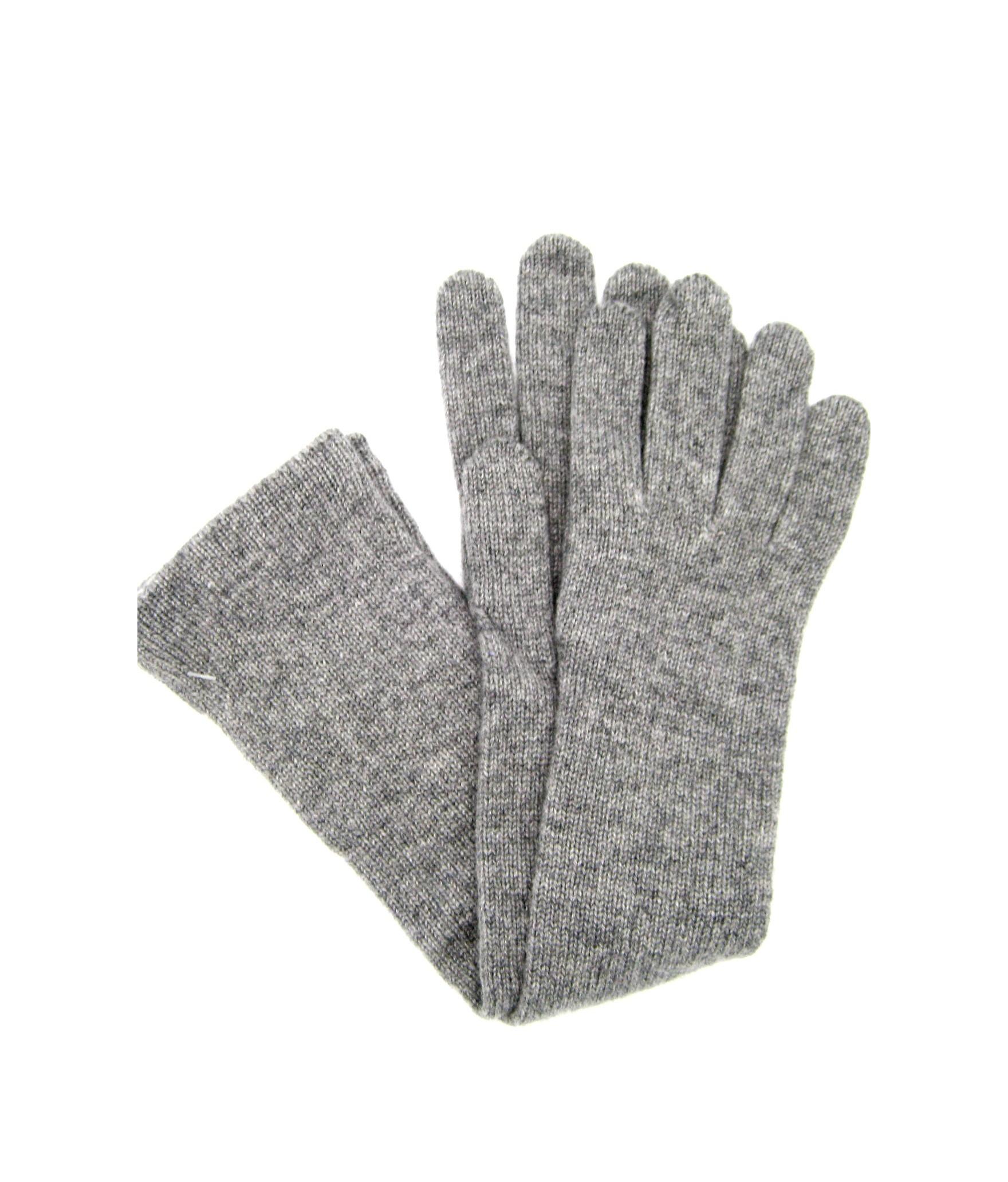 100%cashmere gloves 10bt Light Grey Sermoneta Gloves Leather
