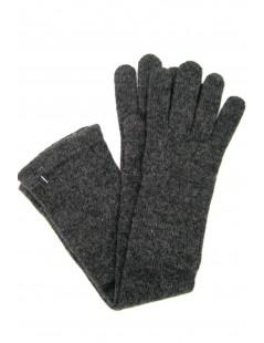 Guanto in 100% cashmere 10bt Grigio scuro Sermoneta Gloves