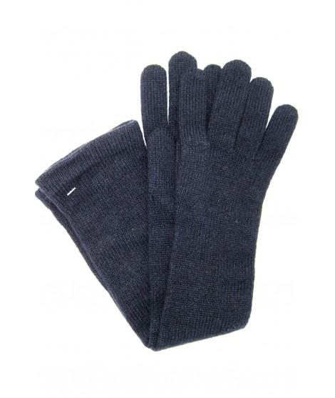 Guanto in 100% cashmere 10bt Navy Sermoneta Gloves Guanti in