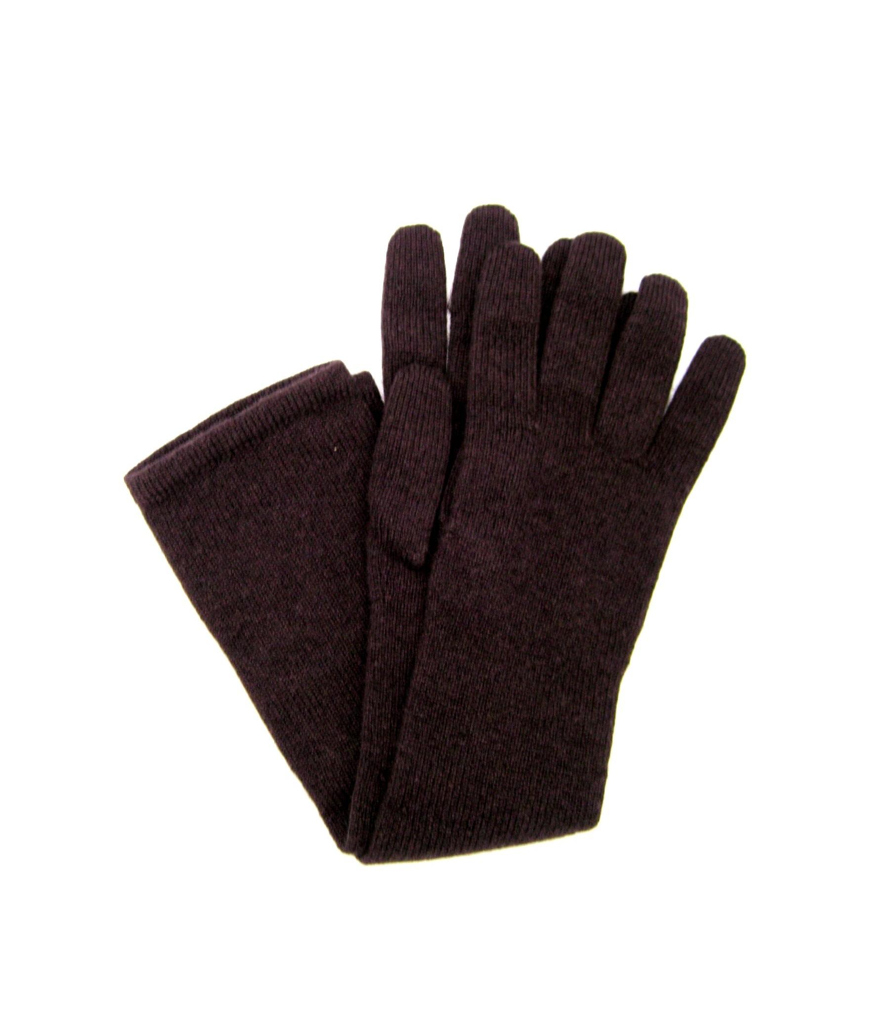 100%cashmere gloves 10bt Dark Brown Sermoneta Gloves Leather