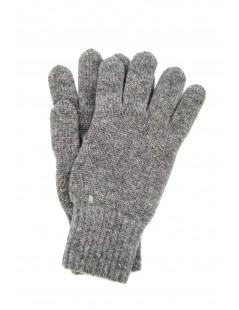 100% Cashmere gloves 2bt Light Grey Sermoneta Gloves Leather